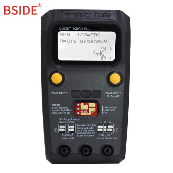 BSIDE Digital Upgrad Version Transistor Multi-purpose Transistor Tester Diode Triode Capacitance Resistor Meter MOS/PNP/NPN SMD