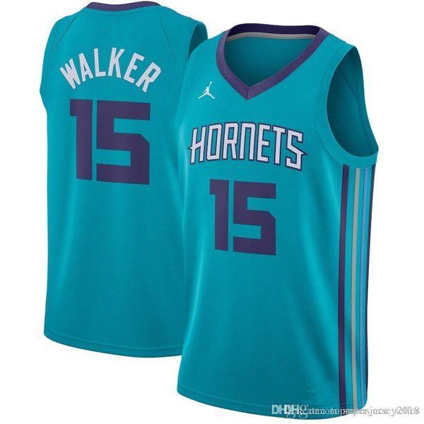 1c3c5f0a5 Kemba 15 Walker Charlotte New Hornets Jersey Mens Charlotte Hornet  Basketball Jerseys Free Shipping Embroidery Logos