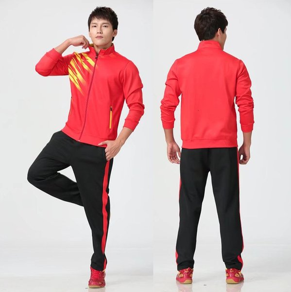 Men's red with black pants