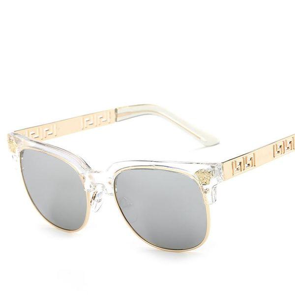 Mulheres vintage frame redondo óculos de sol impresso cabeças dos homens tipos coloridos oco padrão de viagem olhos proteção bons amigos presentes LJJQ189