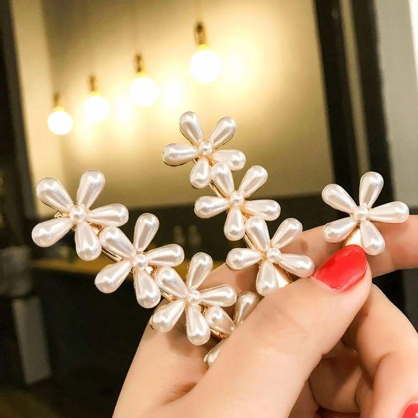 Boutique 10pcs Fashion Retro Pearl Flower Hairpins Solid Royal Floral Hair Clips Princess Headwear ins Hair Accessories