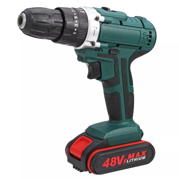 best selling 48V 2 Speed Power Drills Cordless Electric Drill 6500mAh 25+3 Torque Drilling Tool