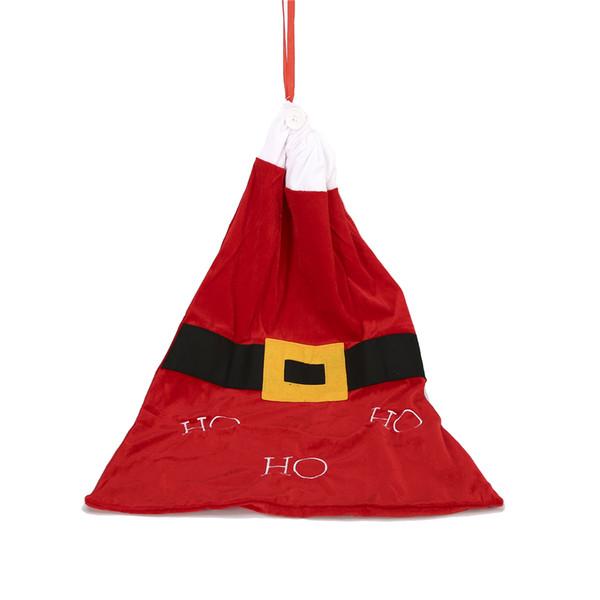 Regalo caldo calza natale Babbo Natale bagagli Big Bag Sacchi organizzatore Pouch Red