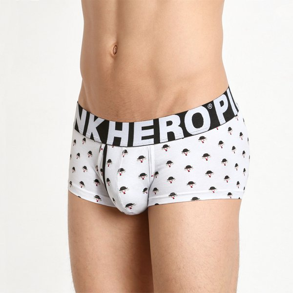 Pack of 24 Trunk with 6 Printing Men's Cotton Boxer Short Stretch Men Panties Top Quality Men Underwear Intimate Male Underpants