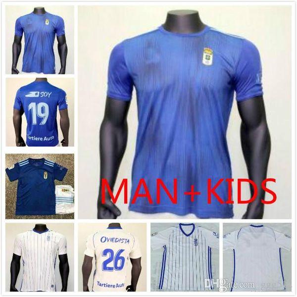 2019 19 20 Thailand Real Oviedo Soccer Jersey 2019 2020 Home Ibra R Folch Y Barcenas Johannesson Mossa Men Kids Kit Football Shirt From Ggg518