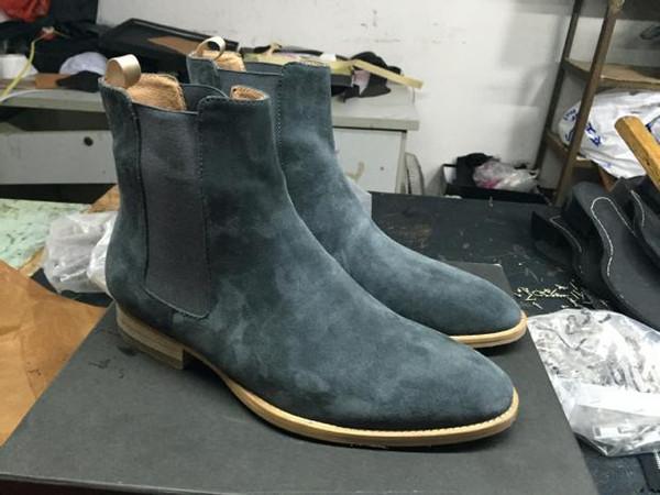 2019 классический Wyatt ботильоны западный стиль черный кожаный Motorcylcle сапоги мужчины джентльмены обувь осень зима x1
