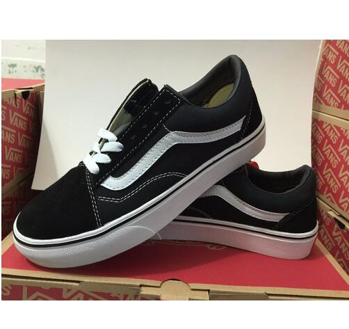 With Box Vans Old School low-top classics Unisex Sneakers Shoes Men Women Canvas Shoes Weight Lifting Trainers 36-44