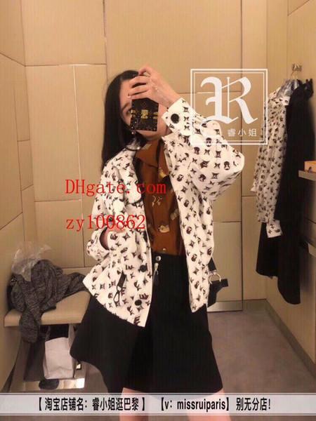 Kadın giyim Klasik Baskılı Elastik Bel Uzun Kollu Kapşonlu Güneş Koruyucu Ceket rahat gevşek kısa ceket kadın hoodies kadın ceket ACF-7