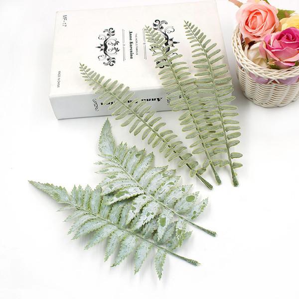 50pcs/lot Artificial Leaf Tropical Palm Leaves Simulation Leaf for Theme Party Decorations DIY Home Garden Decoration flower accessories