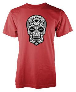 Camiseta de adulto de Sugar Skull Candy Pattern Eye Tattoo Design