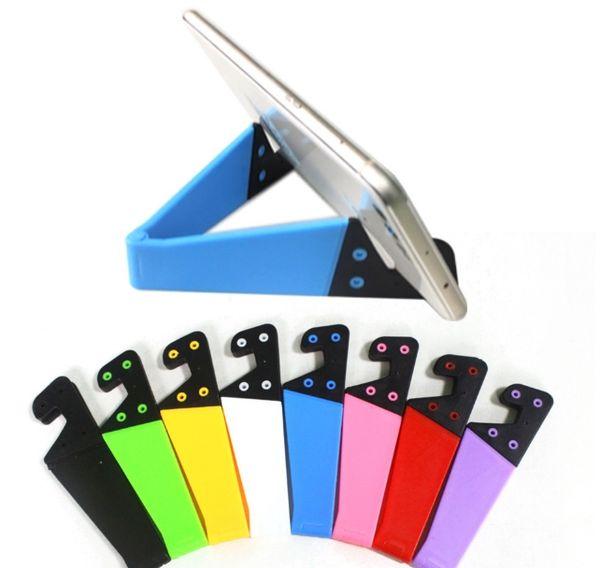 Colorido Dobrável Em Forma de V Universal Dobrável Móvel Celular Stand Titular Portátil Tablet PC Dobrável Pad Phone Hands Hands Holder Celular