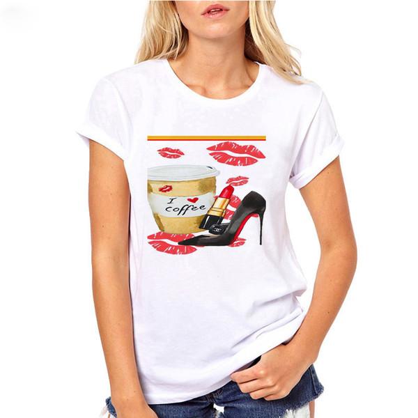 été 2019 aquarelle esthétique parfum peinture peindre manches courtes vogue t-shirt femme gothique tee shirt femme camiseta mujer
