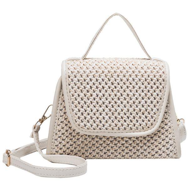New Summer Small Square Bag Straw Small Bag Shoulder Slung Handbag