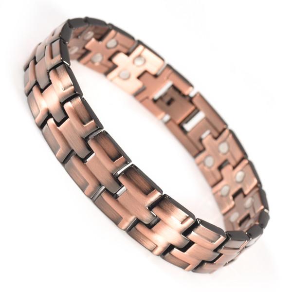 Медные браслеты для мужчин магниты 36шт Магнитная терапия Облегчение боли при артрите