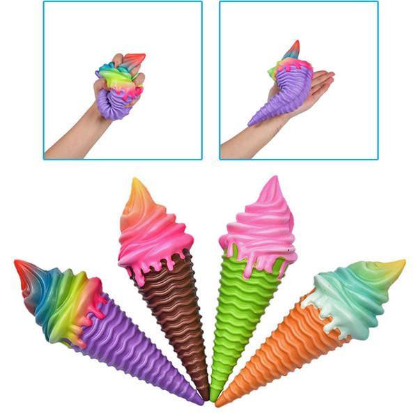 Squeeze Decompression toys Squishies Slow Rising Rainbow IceCream Jumbo Squishy Toys Foods Colorful Ice Cream Slow Rebound