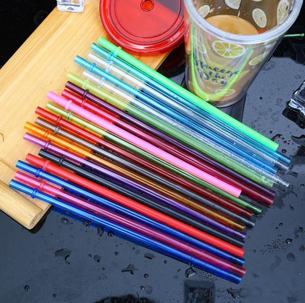Disposable Straws 260*6mm Creative DIY Plastic Party Drinking Straws 10.5inch Reusable Straws for Tall Skinny Tumblers SN3086