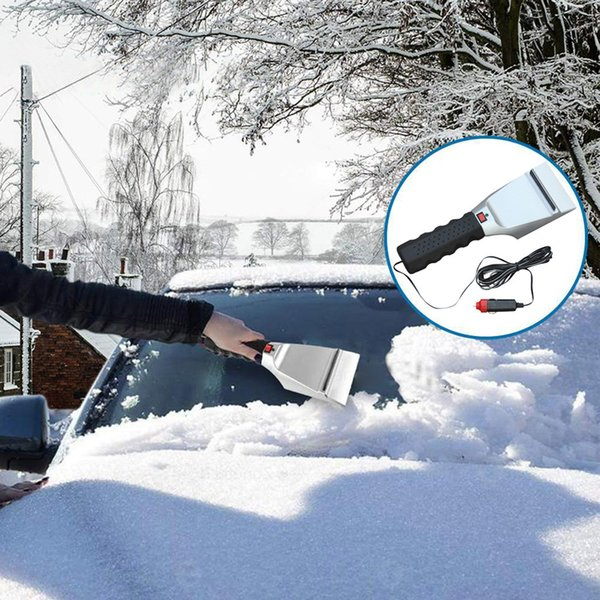 .12v electric heated car ice scraper automobiles cigarette lighter snow removal shovel windshield glass defrost clean tools new thumbnail
