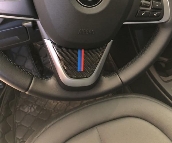 Kohlefaser Auto Lenkrad Aufkleber M streifen Emblem Aufkleber für BMW X1 2016 F48 1 Serie 2017 F52 2 Serie Tourer F45 F46