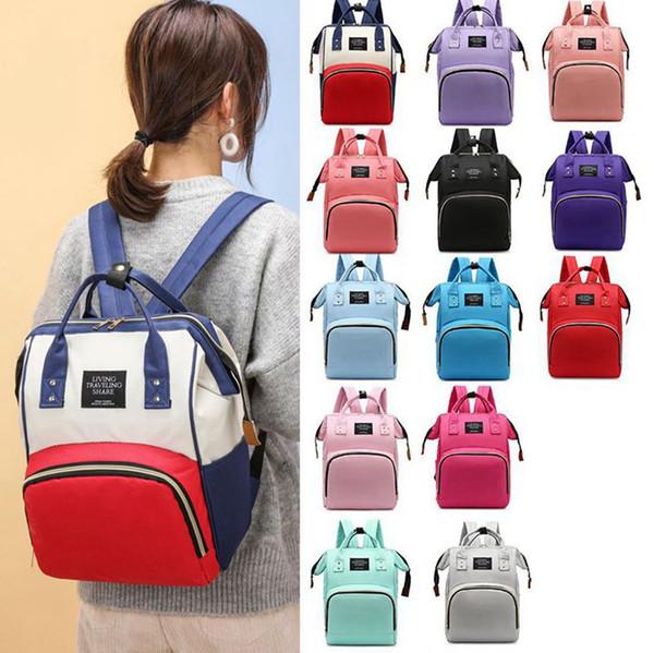 top popular Mummy Nappy Bag Large Capacity Baby Bag Maternity Nappy Diaper Bag Capacity Baby Travel Backpack Stroller Baby Care Nappy Backpacks KKA7931 2021
