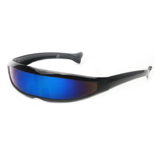schwarz - blaue Linse