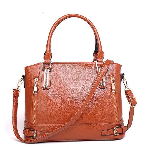 good quality New Arrival Women Leather Shoulder Bag Sac A Main Ladies Messenger Bag Large Capacity Female Casual Handbags Tote