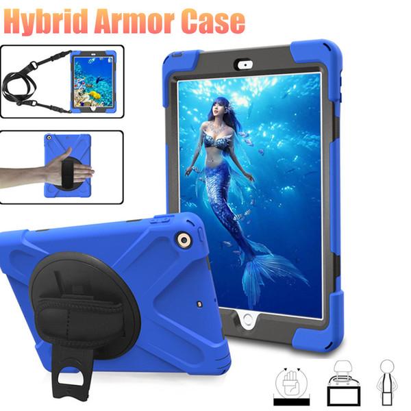 حافظة تابلت هايبرد لاجهزة ايباد برو 9.7 10.5 ايباد 234 اير 2 Samsuang Tab A Kids Tablet Armor Cover with Belt