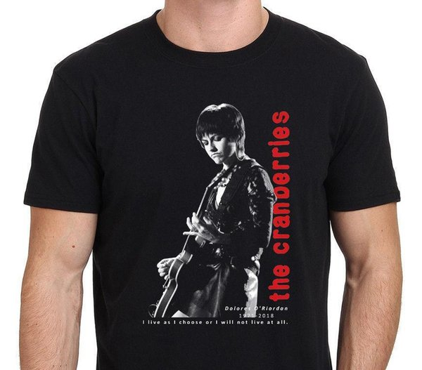 Nouveau populaire The Cranberries T-shirt Tribute Dolores O'Riordan pour hommes