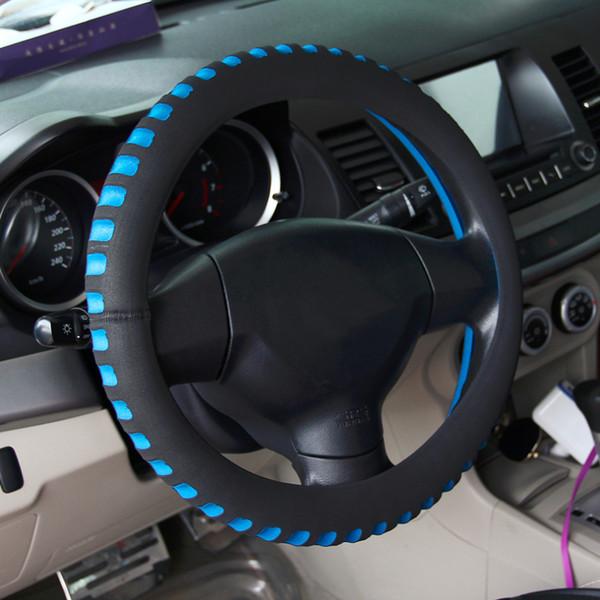 Cubierta universal del volante del coche 38 cm de diámetro Interior del vehículo automotriz Nuevo estilo Automóviles Cubierta del volante caliente