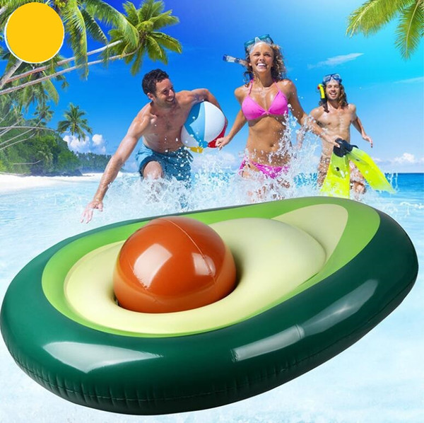top popular fruit shape inflatable mattress swim rings summer water sport toy giant Avocado floats floating swim pool lounger chair wholesale 2021