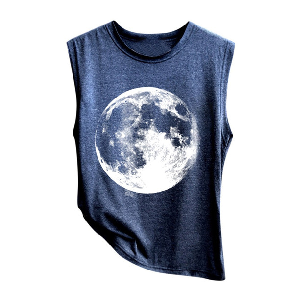 Summer 2019 Sexy Tank Top Women Streetwear Earth Print Tank Top Womens Clothing Gothic TanksParty Tops For Women Chemise Femme