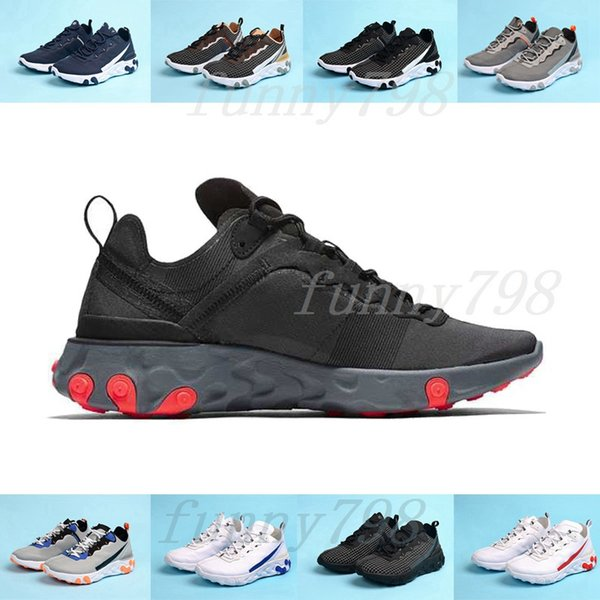 With Box 2019 Chaussure Best Mens Trainers React Element 55 Undercover X Upcoming Designer Sports Shoes Men Women Sneakers Shoes Shoes For Men Sports