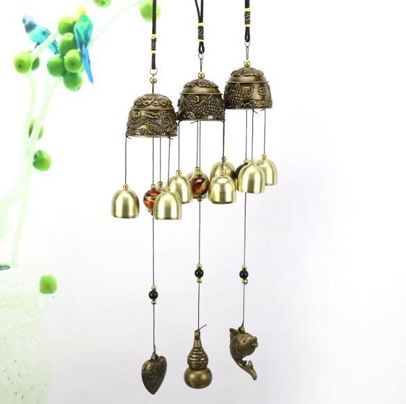 Creative alloy metal alloy copper bell wind chime Creative home decoration pendant lucky decoration pendant fashion