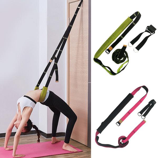 2019 New Yoga Belt Resistance Rubber Bands Indoor Outdoor Fitness Exercises Equipment Sport Body Training Workout Elastic Bands