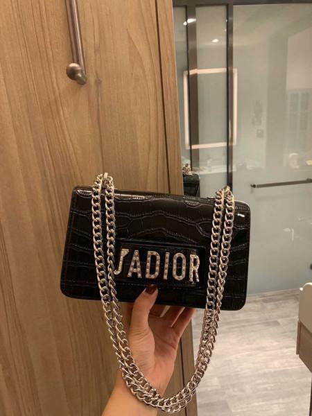 19ss yeniden tasarımı kadınlar Croco zincir çanta debriyaj çanta moda zincir omuz çantaları bayan çapraz çanta kılıf crossbody çantayı çanta