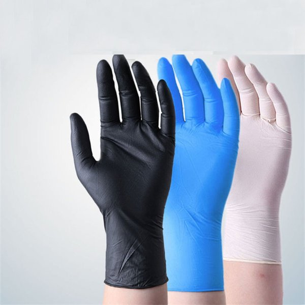 top popular Factory Disposable Nitrile Gloves Oil-resistant Waterproof Wear-resistant Latex Rubber Nitrile Rubber Protective Gloves 2020
