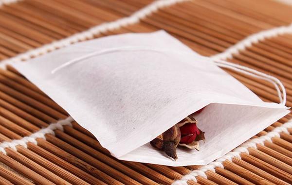 60 X 80mm Zellstofffilterpapier Einweg-Teesiebfilterbeutel Einzelner Kordelzug Heal Seal Teebeutel