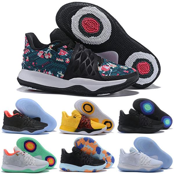 Cheap Mens Kobe low cut basketball shoes for sale Triple Black White Multi color Flytrap elite irving 4 IV sneakers