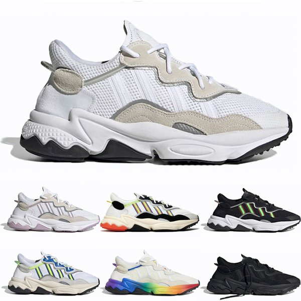 Acheter Adidas Ozweego Adidas Shoes Luxe Chaussures Casual 3M Nuage Blanc Noir Ozweego Hommes Femmes Fierté Tones Halloween Triple Noir Jaune Solaire