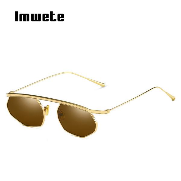 Imwete Classic Sunglasses Women 2019 HD Ocean Lens Sun Glasses for Men Metal Brand Design Eyeglasses Frames UV400 Shades Female
