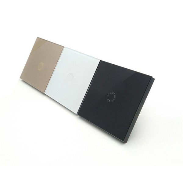 Smart capacitive Touch Switch 1 Gang 1 Way Tempered Glass Panel Wall Intelligent Home Power Switches