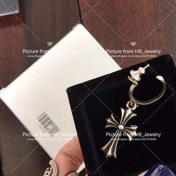 Popolare marchio di moda croce designer orecchini per signora Design uomo e donne regalo di nozze gli amanti del regalo di lusso gioielli hip hop