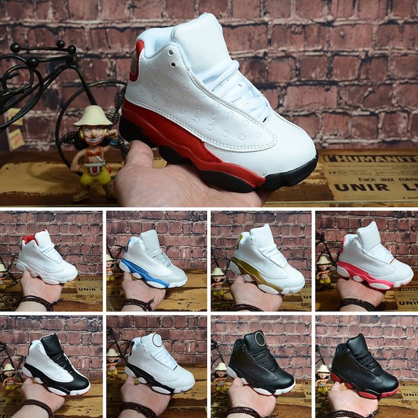 Nike Air Jordan 13 Çevrimiçi 13 Çocuk Basket Ayakkabısı Çocuk 13s Yüksek Kaliteli Spor Ayakkabıları Gençlik Boy Kız Basketbol Sneakers Satış US11C-3Y EU28-35
