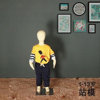 bebé 1-4years TOROSO 1pc cuerpo de algodón de los niños pantalla maniquíes cuerpo con tejido de base circular de hierro textiles flexibles tela, C408