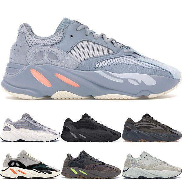 Kanye West Inercia 700 V2 Wave Runner Vanta Geode Static Mauve OG Gris sólido Diseñador Hombres Mujeres Zapatillas Zapatillas deportivas 36-46