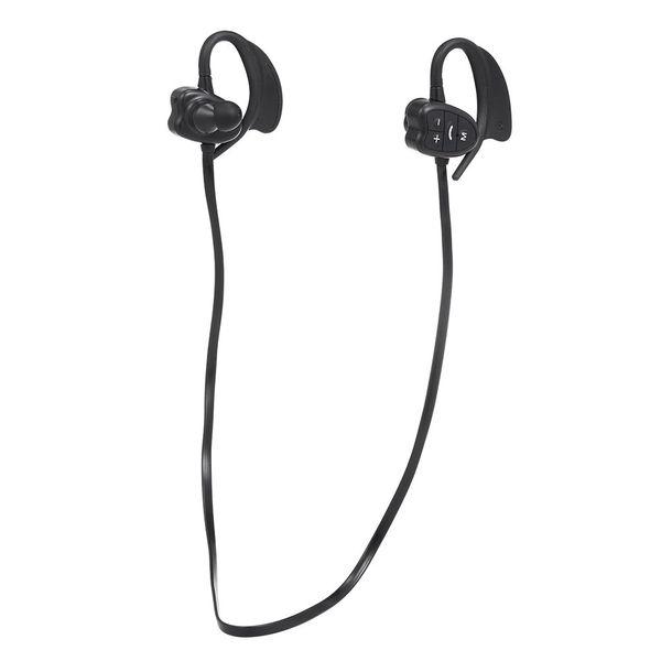 Inalámbrico BT audífonos deportivos inalámbrico impermeable auricular Bluetooth manos libres estéreo micrófono incorporado, reproductor de MP3 Capacidad de memoria de 8GB