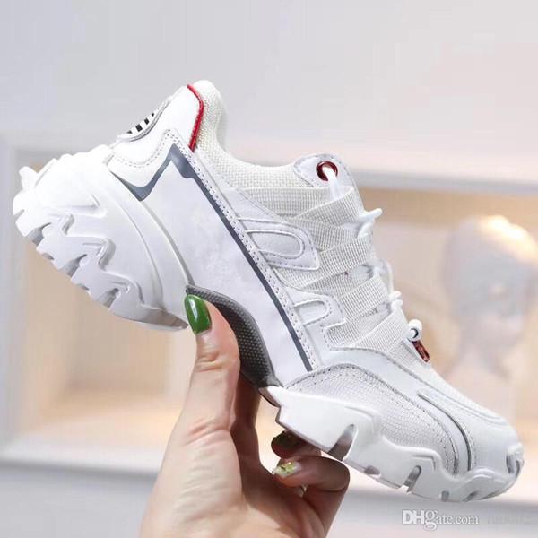 А горячая !! 2019 Мода тапок Повседневной обуви папа для Мужских женщин Бежевых Черного дешевого спорта Дизайнер обуви rx190702
