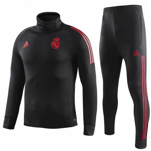 Conjunto de 3 piezas DHL 1819 ropa deportiva de alta calidad 19 nuevo traje de entrenamiento de cuello alto negro ropa deportiva de fútbol masculino + traje de pantalón elástico