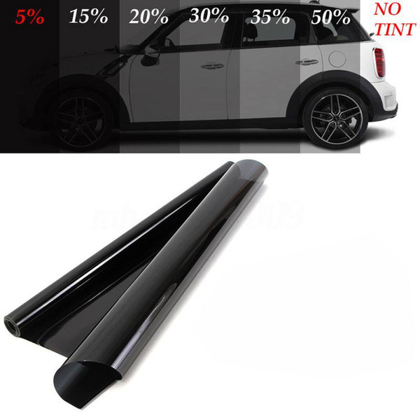 best selling NEW 600x50cm VLT Black Car Window Tint 5%-50% Car Auto Home Windows Glass Tinting Film Roll Solar UV Protection Sticker Films