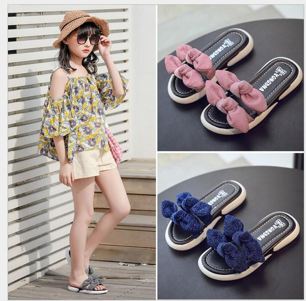 2019 novas crianças chinelos de praia de verão crianças sandálias de cortiça lantejoulas bling para a família shoes leopardo flats descalço meninas chinelo