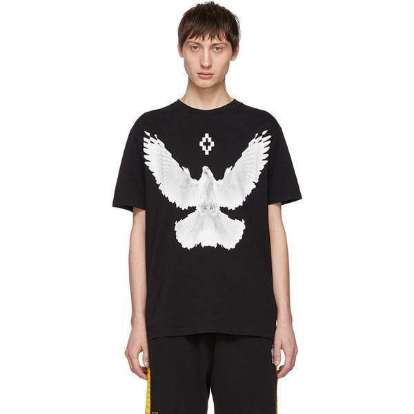 Marcelo Burlon Tasarımcı T Gömlek MB Güvercin Erkek Tasarımcı T Gömlek Marcelo Burlon Erkekler Kadınlar Kısa Kollu Boyut M-XXL
